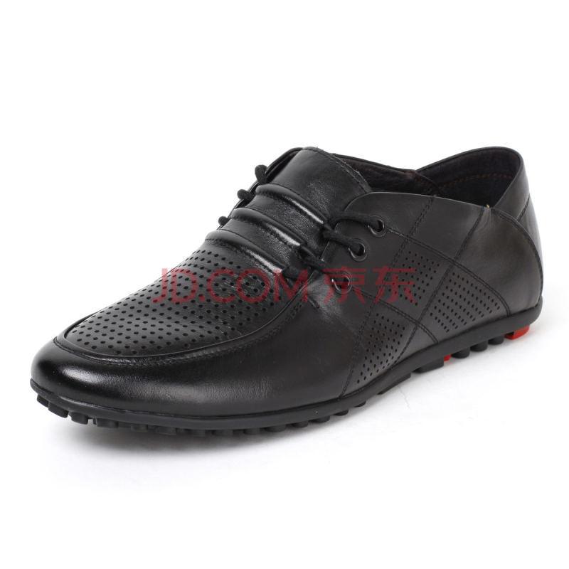 男鞋夏季时尚休闲鞋低帮真皮凉鞋英伦包头系带凉皮鞋