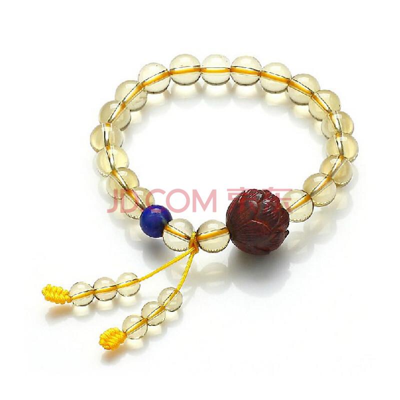 巴西黄水晶手链搭配a级青金石