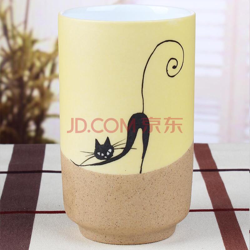 雅工坊 手绘陶瓷杯-性感猫咪