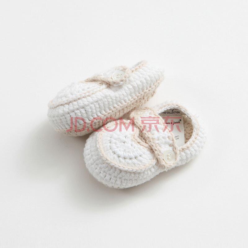 2014春装新款宝宝手工编织鞋袜婴儿袜子tz5105-0115 白色 onesize