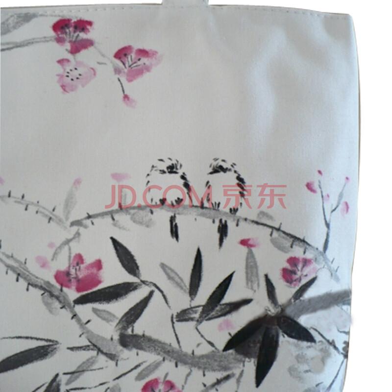 中国风名族手绘画单肩手提帆布休闲女士专用包