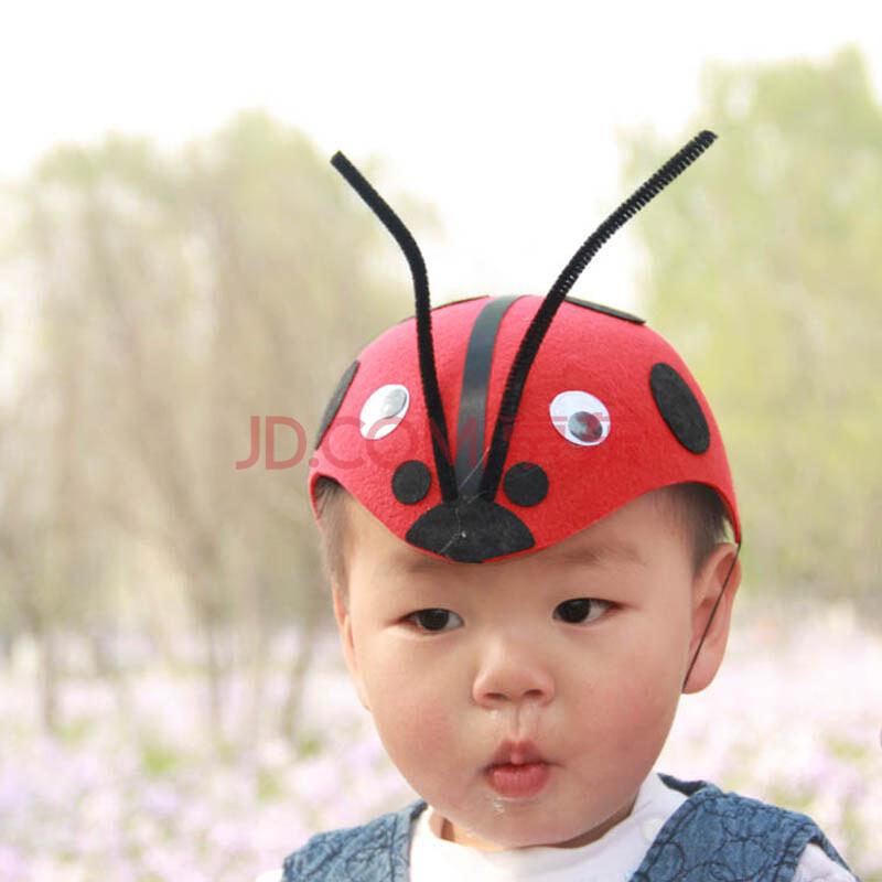 六一儿童节头饰 化装舞会动物帽子 兔子 瓢虫 青蛙 小狗头饰帽子从