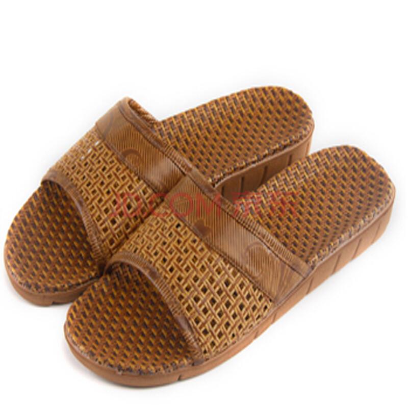 德锋赛卡 远港夏季男士居家藤草拖鞋室内防滑拖鞋木地板凉拖鞋6130 灰