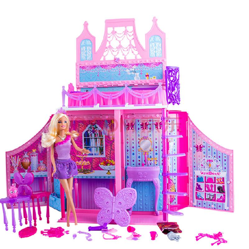 芭比娃娃玩具 蝴蝶仙子与精灵公主之芭比之屋