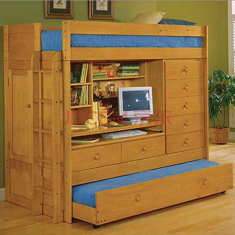 美式实木 儿童床