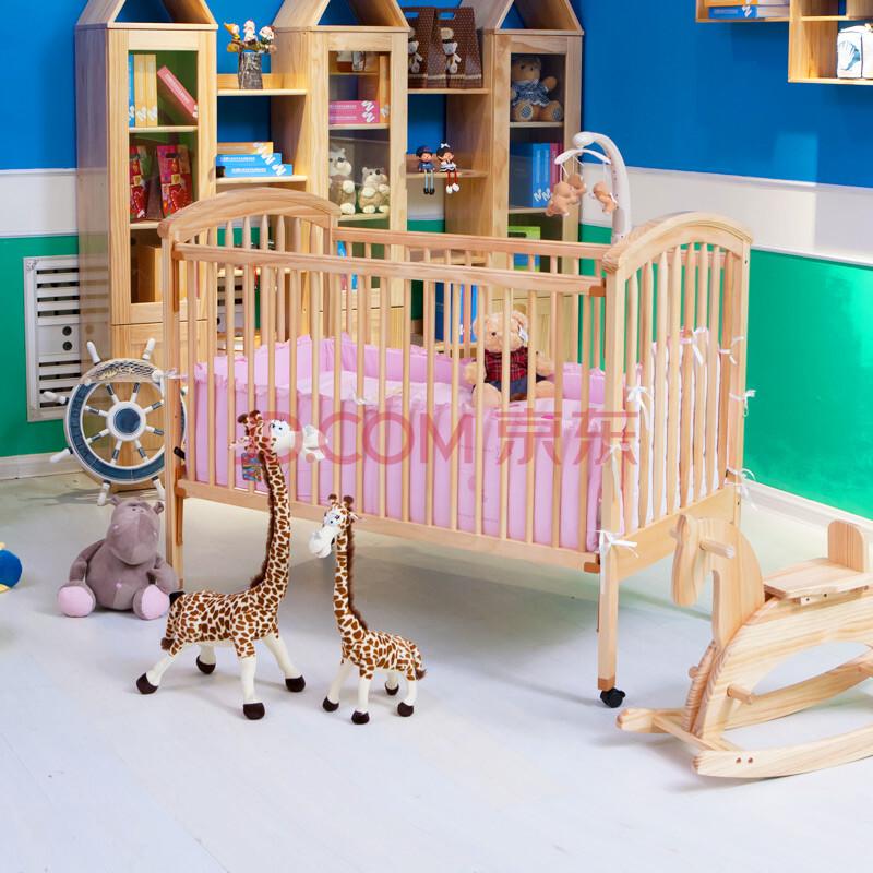 月亮船(moonbay)实木婴儿床