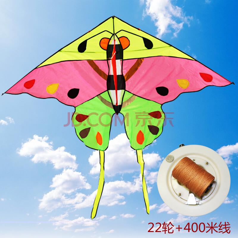 意诚 布拼小蝴蝶风筝 1.8米 儿童卡通好飞 (风筝 22轮