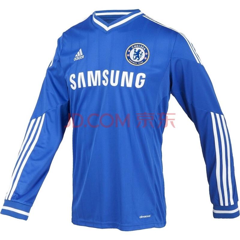 adidas 阿迪达斯 足球 男子 切尔西长袖比赛服 切尔西蓝 g90169 如图