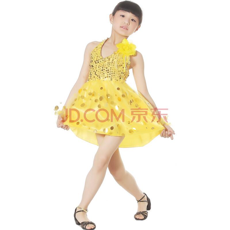 儿童拉丁舞裙 新款表演出舞台服装