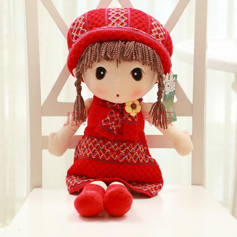 原创小女孩毛绒玩具公仔洋娃娃创意布娃娃可爱礼物六一儿童节娃娃古代玩偶武媚娘图片