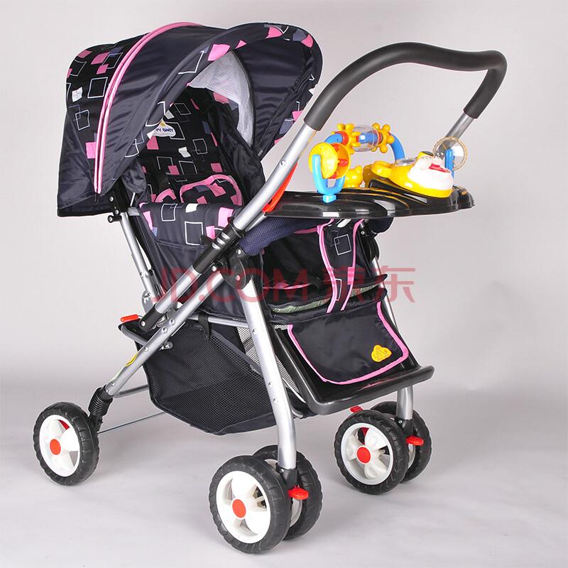 三乐婴儿手推车 轻便易折叠童车超大宝宝车 伞车可折叠平躺婴儿车