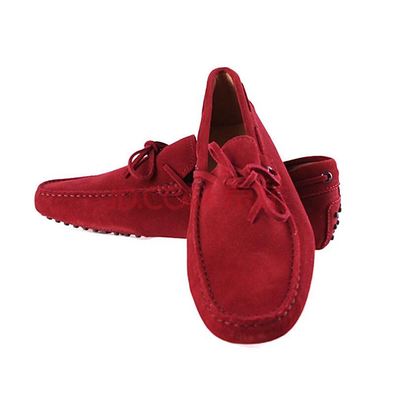 红色系带单鞋搭配