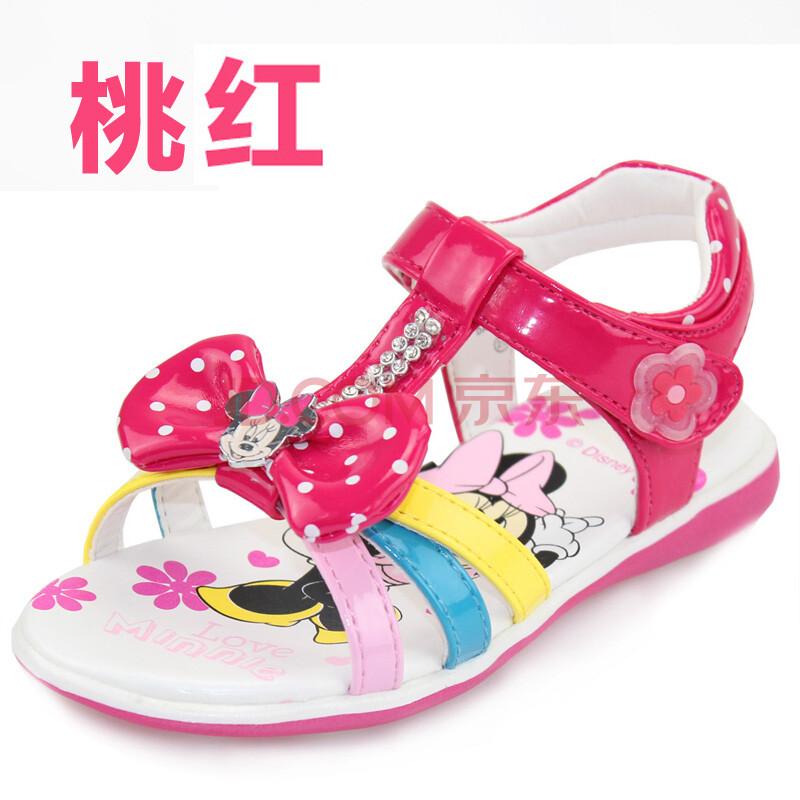 迪士尼童鞋儿童凉鞋 2013新款夏季宝宝皮鞋女童公主
