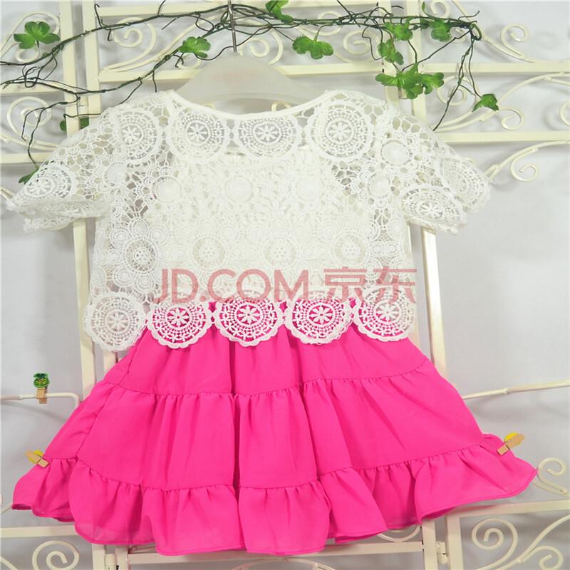 桑尼麦笛儿童装2014夏装新款碎花背心短袖宽松可爱淑女宝童纱裙 玫瑰