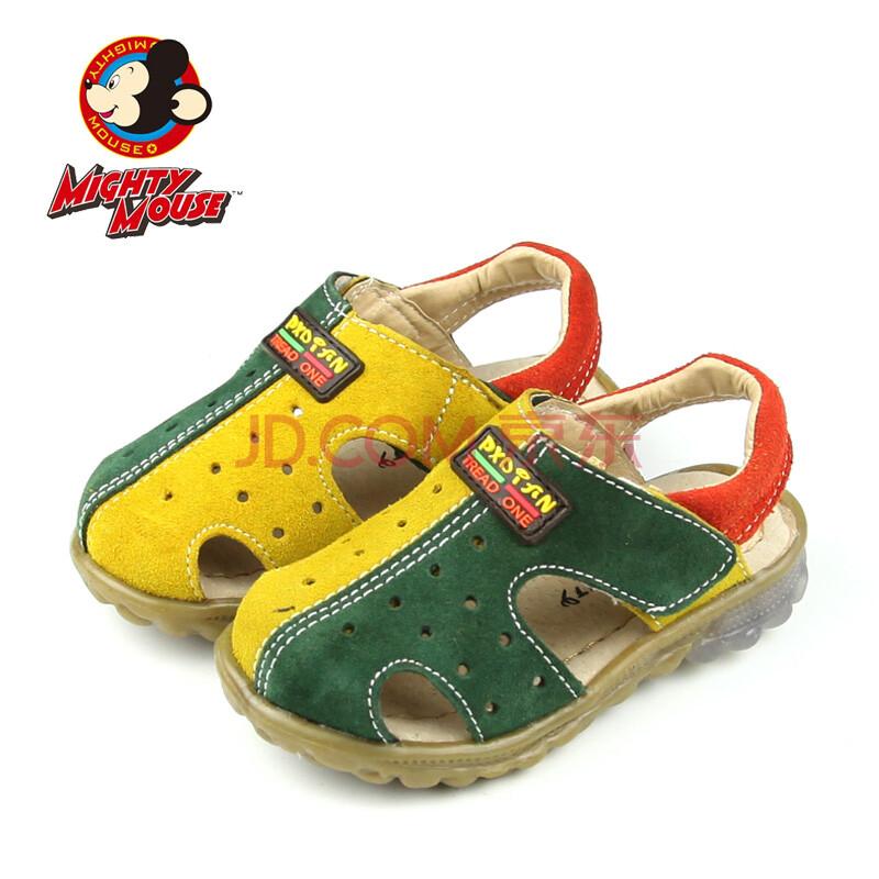 正品麦森米奇童凉鞋宝宝学步凉鞋带灯童鞋反绒皮凉鞋