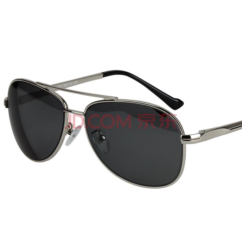 太阳镜 男士偏光眼镜蛤蟆墨镜司机驾驶镜511 近视太阳镜-银框灰色镜片图片