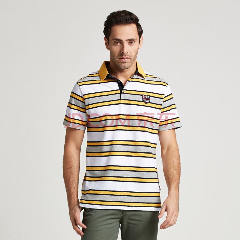 【爆款人气】JEEPMS吉普猛士14夏装男士条纹纯棉短袖T桖 大码 POLO衫 户外男装