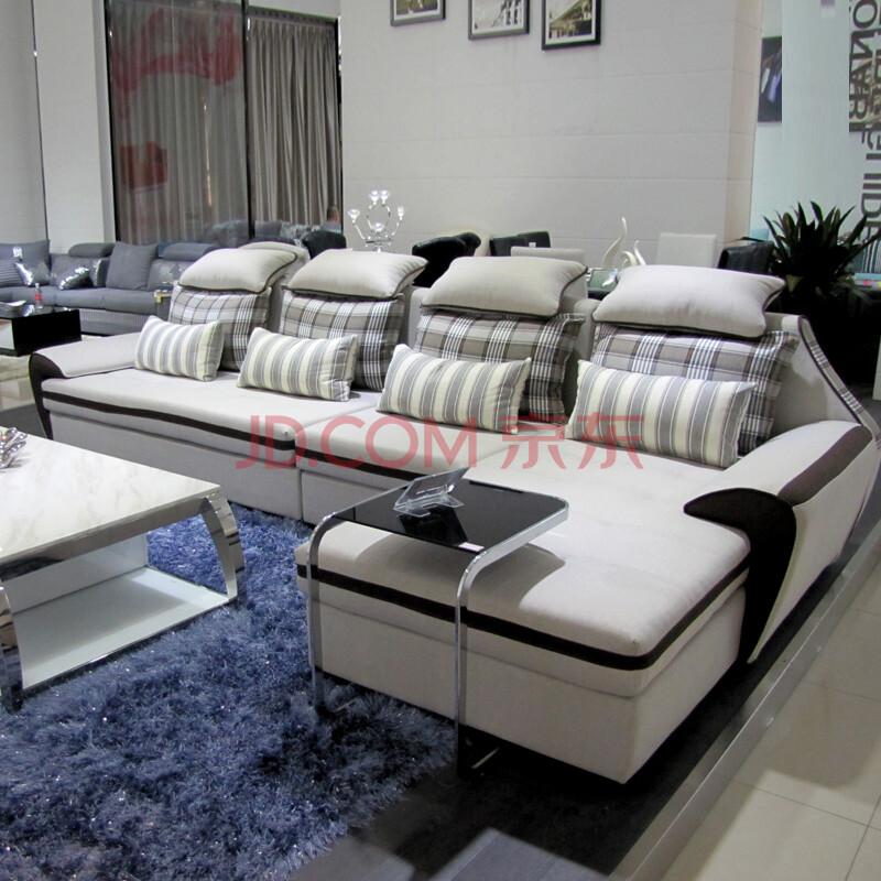 客厅时尚布艺沙发图片