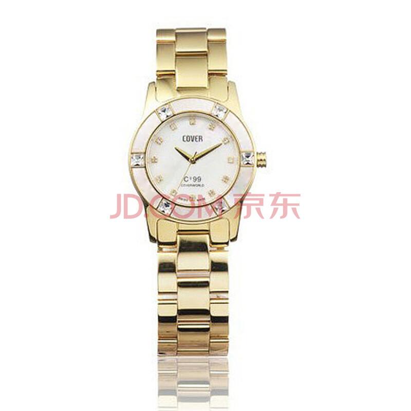 瑞士品牌高峯cover女款石英手表贝母表盘镶嵌水钻电镀图片