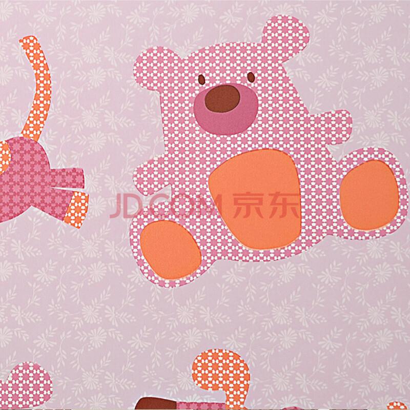 粉色儿童房墙纸贴图