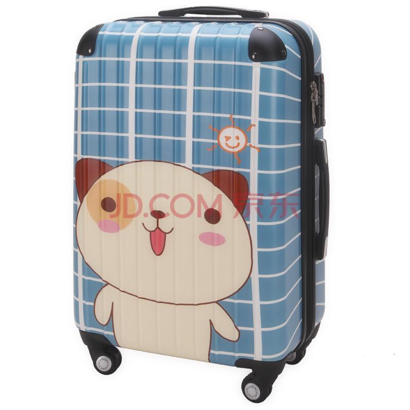 lulu熊可爱卡通拉杆箱万向飞机轮旅行箱时尚行李箱情侣登机箱托运箱包