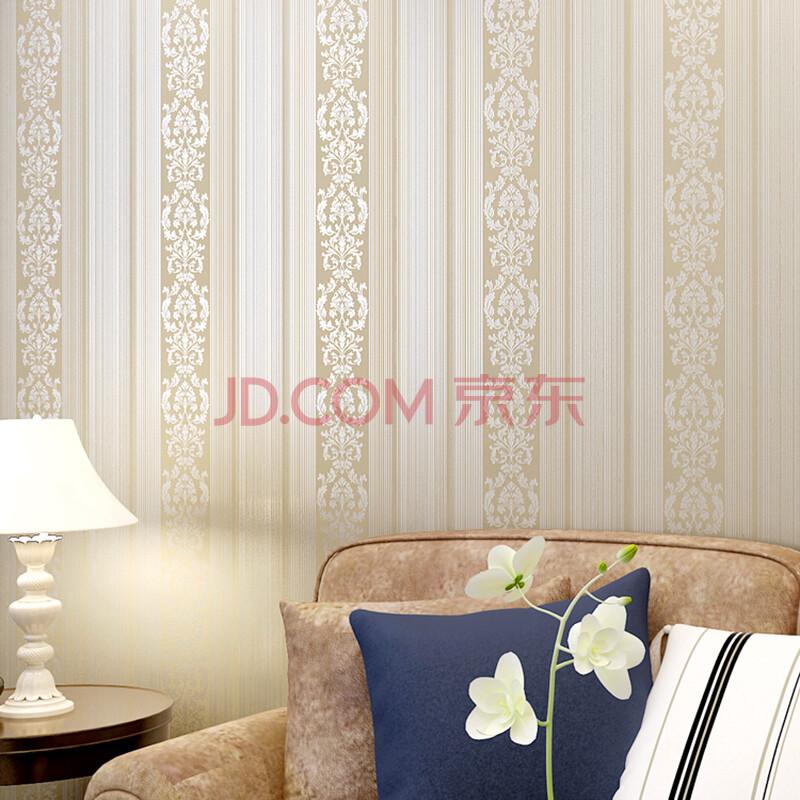 室房间客厅电视背景 墙纸竖条纹 壁纸   现代简约 灰白棕纯色素色 竖条