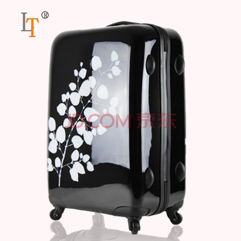 louistravel黑白情侣行李箱28寸旅行箱24寸拉杆箱万向
