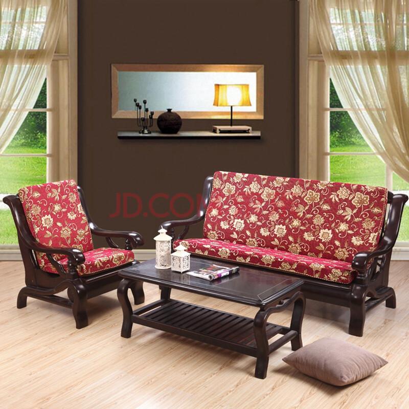 慕梵依家纺 红木沙发垫坐垫套装布艺 实木沙发巾沙发套沙发罩 紫醉金