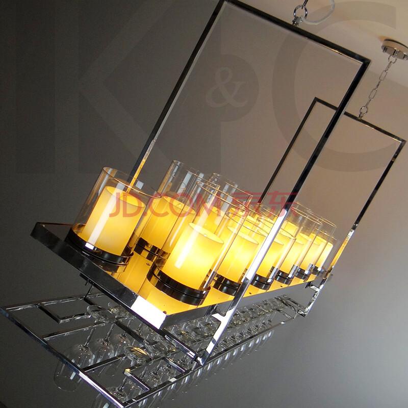 咖啡厅led吧台方形吊灯图片