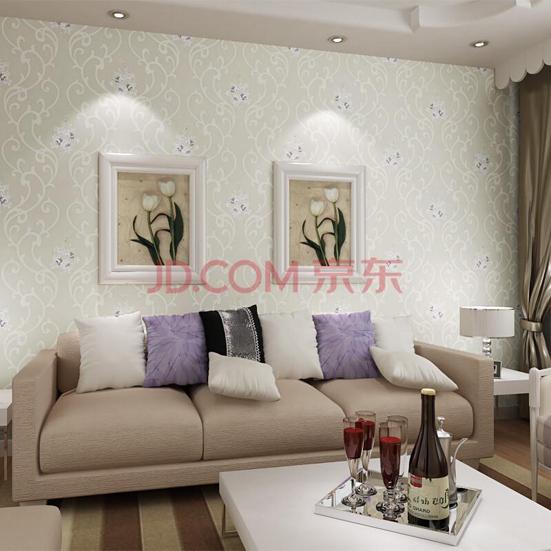无纺布墙纸 欧式田园卧室温馨背景墙装修