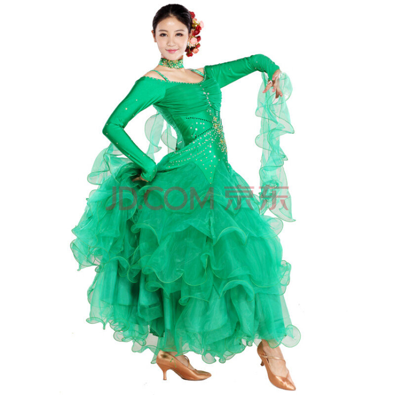 摩登舞比赛裙新款_
