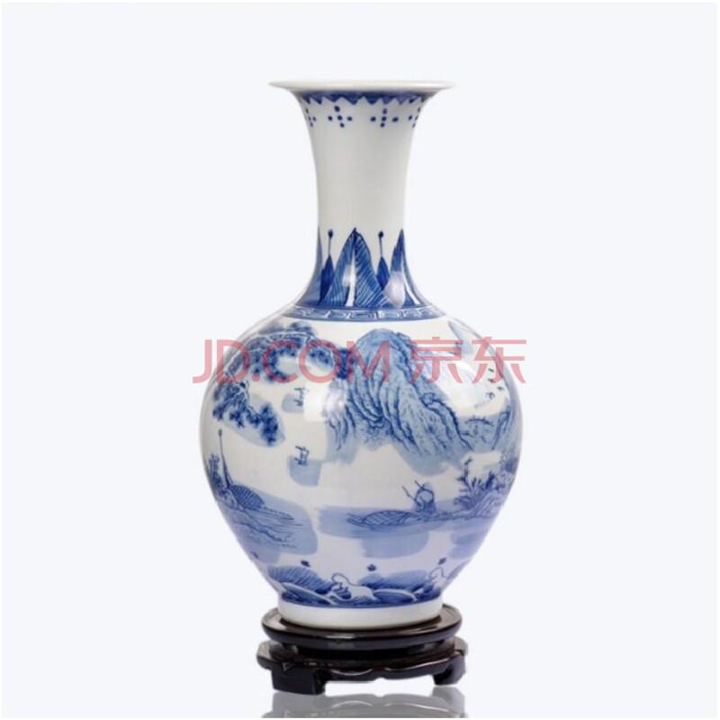景德镇陶瓷 青花瓷花瓶