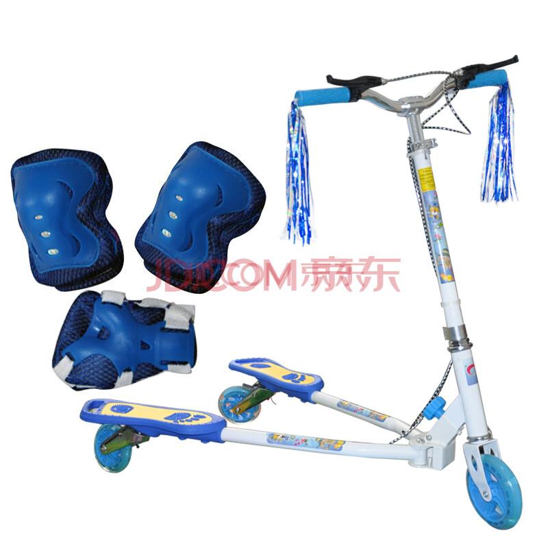 闪电侠蛙式滑板车 儿童三轮闪光轮蛙式车踏板车