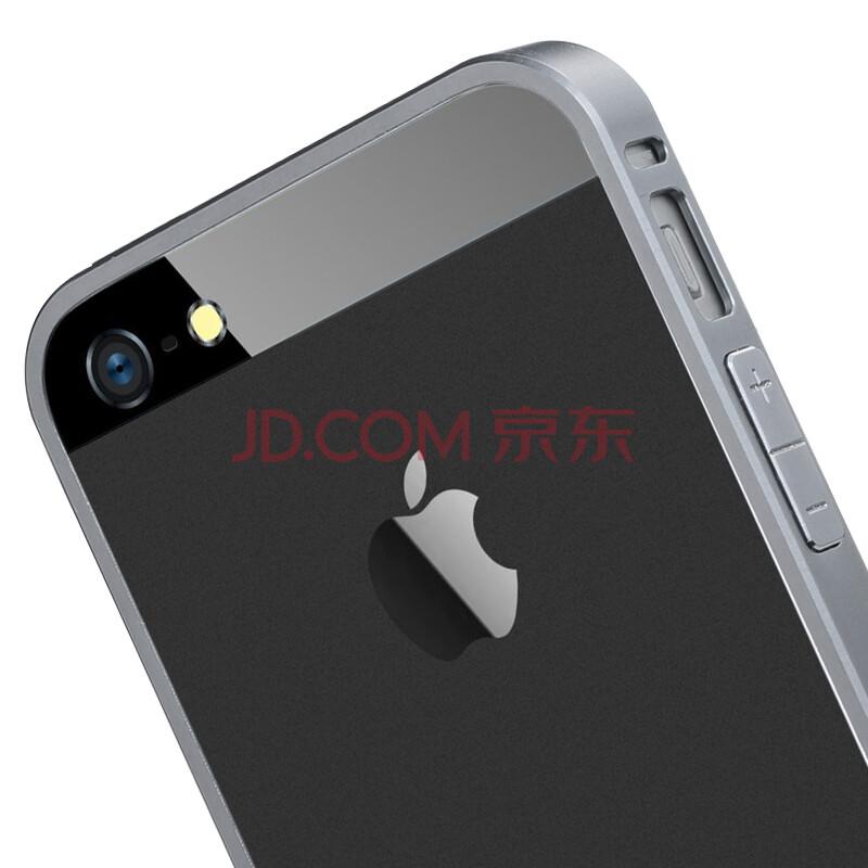 苹果iphone5/5s手机边框 适用于苹果5/5s手机 金甲系列 金属边框 黑色