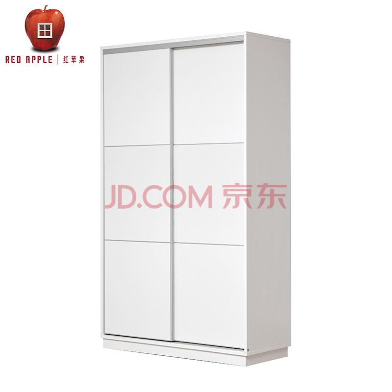 家具简约现代板式组合推拉趟门2门衣柜r925t/d925t白色系列 白木纹-1.