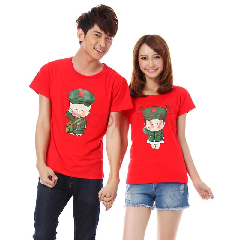 伊世纪2014中国风情侣t恤可爱情侣装