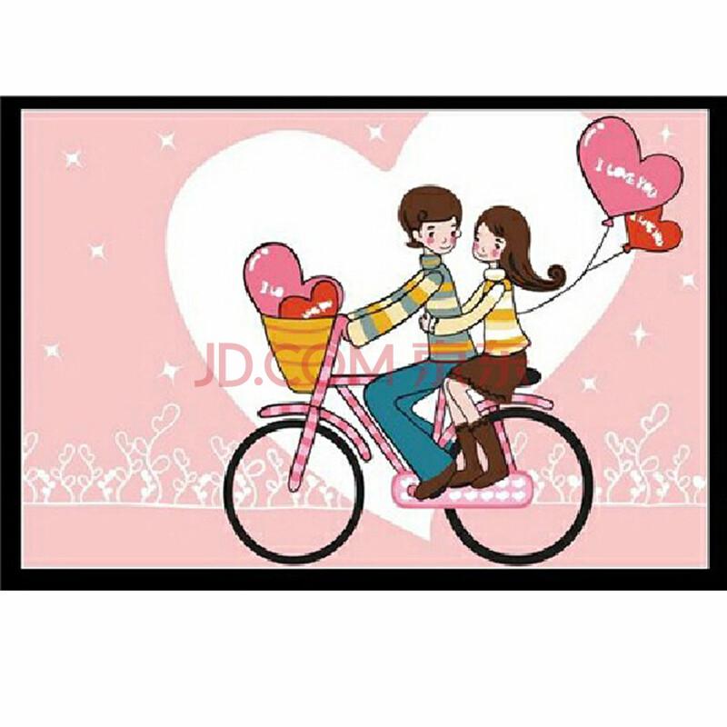 孖堡 数字油画 照片墙 diy情侣手绘风景装饰画幸福系列20x30cm新款 cp