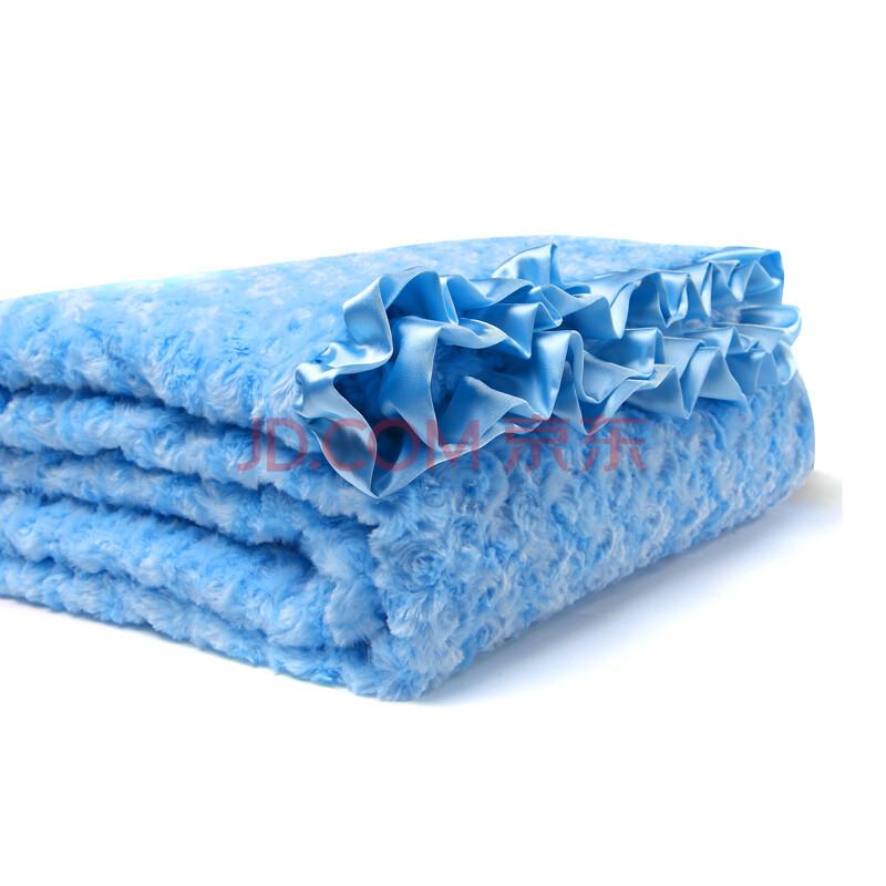 麦克斯丹尼尔maxdaniel美国毛毯 蓝色 母婴毯双面