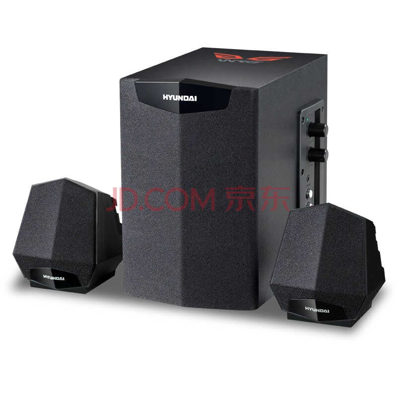 现代(HYUNDAI) F240 黑色 游戏音箱/多媒体音箱音响 2.1声道 18W大功率 木质HIFI低音炮)