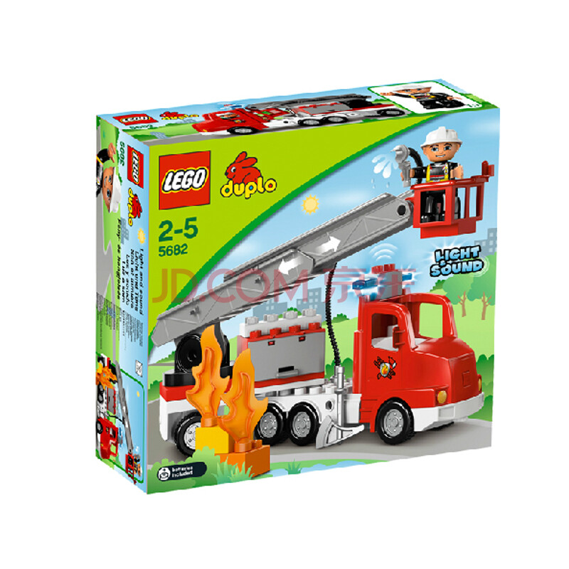 乐高积木lego 益智玩具 积木玩具 拼插积木 得宝创意系列 消防车 l