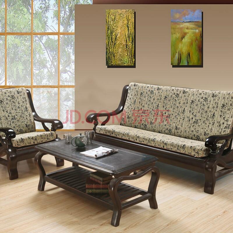 琦玮家纺高档防滑实木沙发慢回弹坐垫奢华红椅三人座垫靠垫 中国风 三