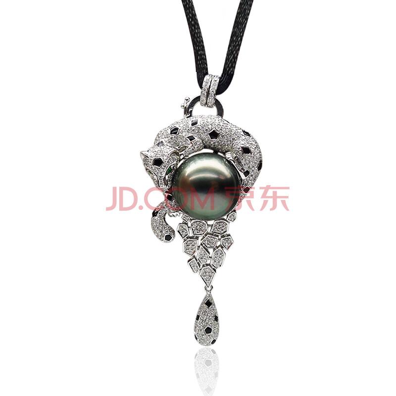 黑珍珠项链吊坠