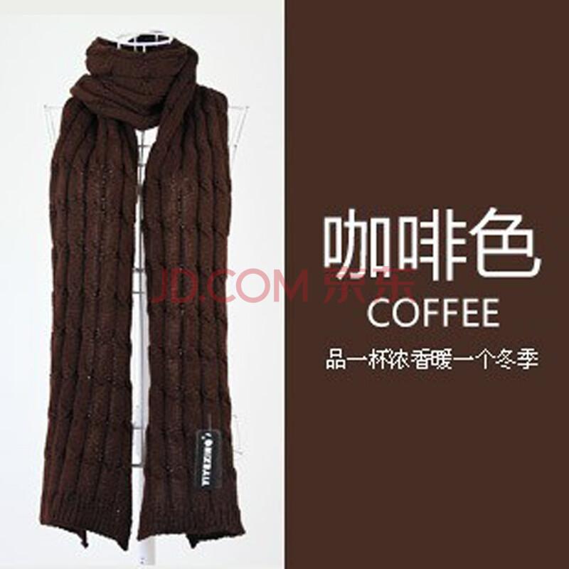 男士咖啡色围巾搭配