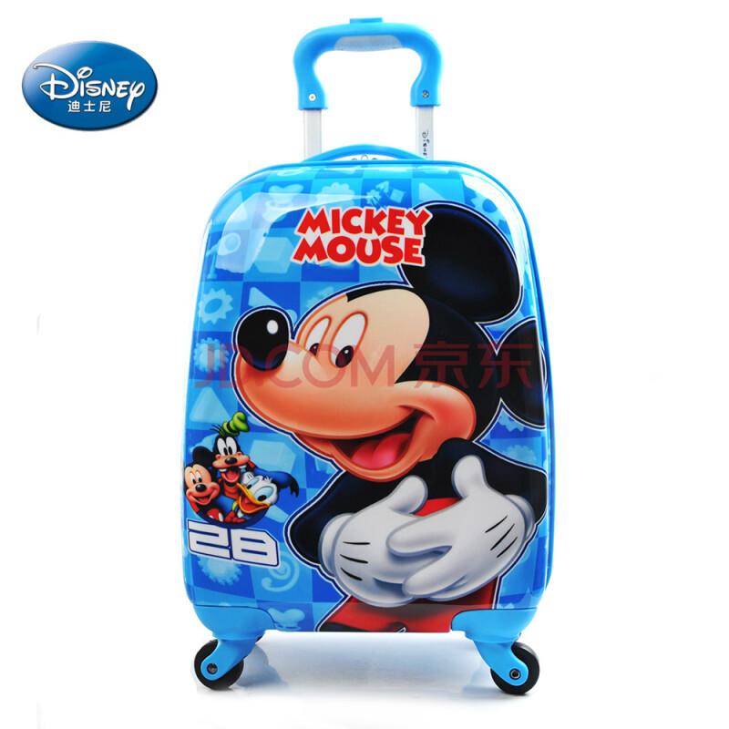 迪士尼儿童拉杆箱行李箱男女宝宝旅行箱万向轮卡通登