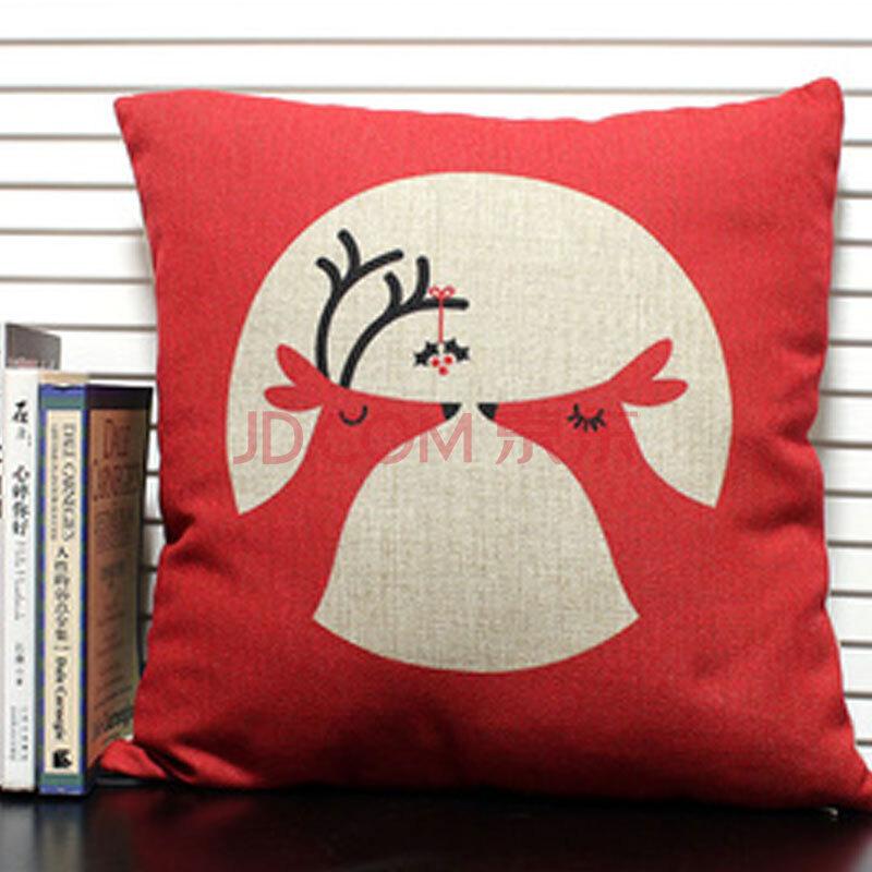 抱枕手绘鹿图片