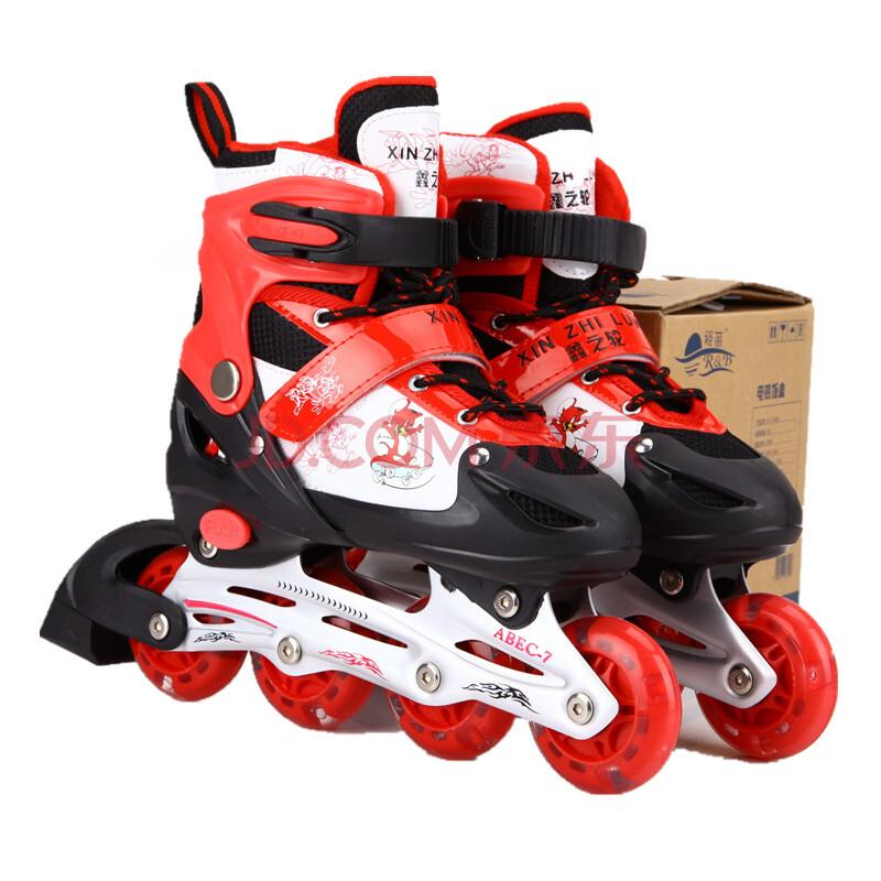 溜冰鞋儿童套装可调成人轮滑鞋全闪光暴走鞋直排轮子