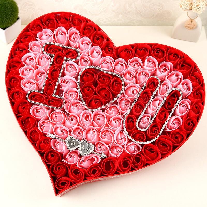 qq头像大全 个性签名 个性签名  排成心形的玫瑰花图片素材(编号