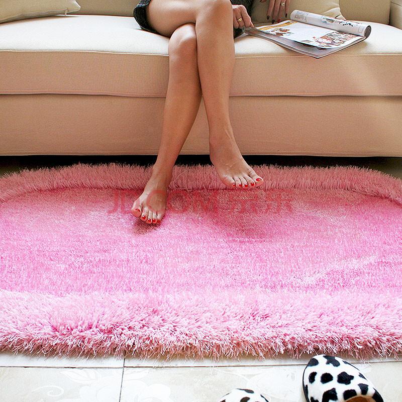 瑞恩 弹力丝椭圆地毯地垫 客厅卧室床边飘窗 亮丝加厚