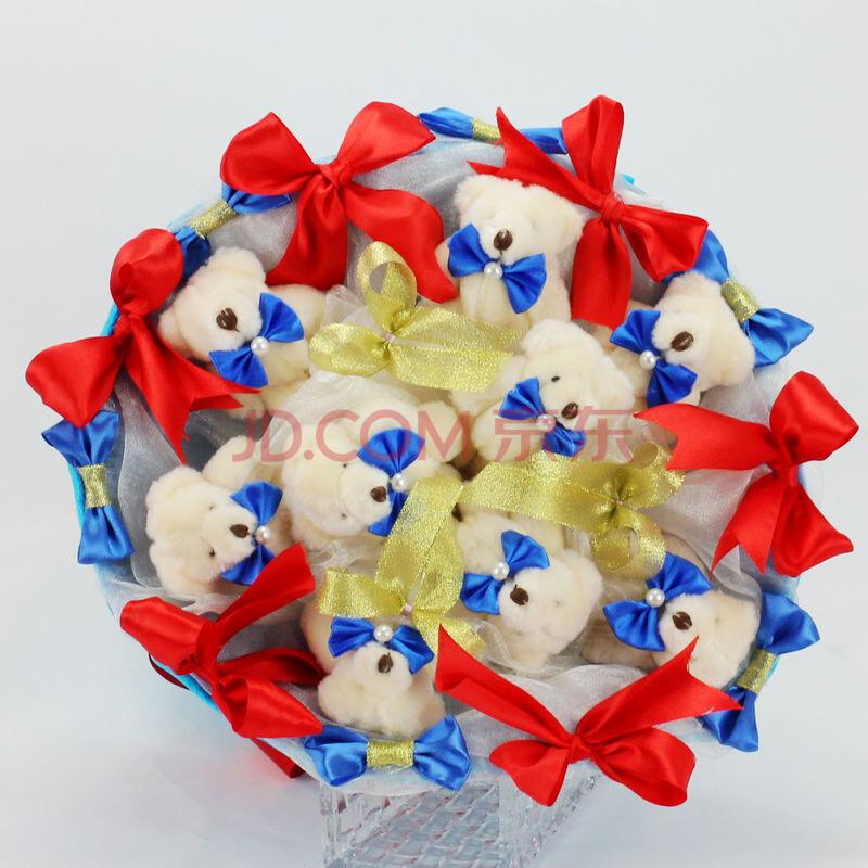 小熊卡通花束泰迪熊公仔玩偶娃娃花
