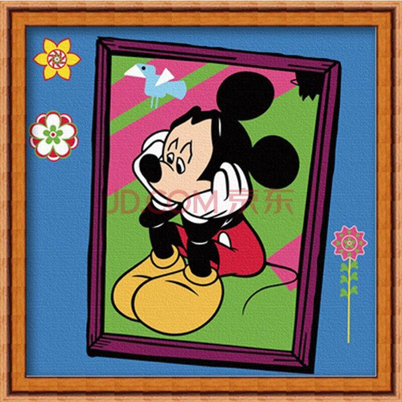 童画数字油画 米老鼠